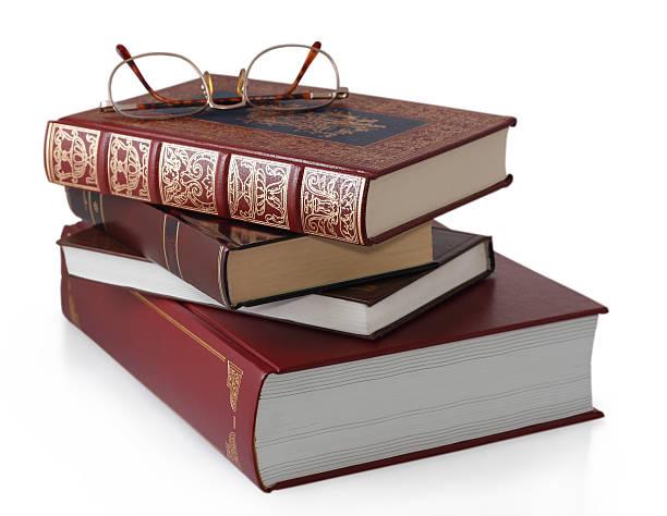 Stack stilvollen Rot und gold Bücher isoliert. – Foto