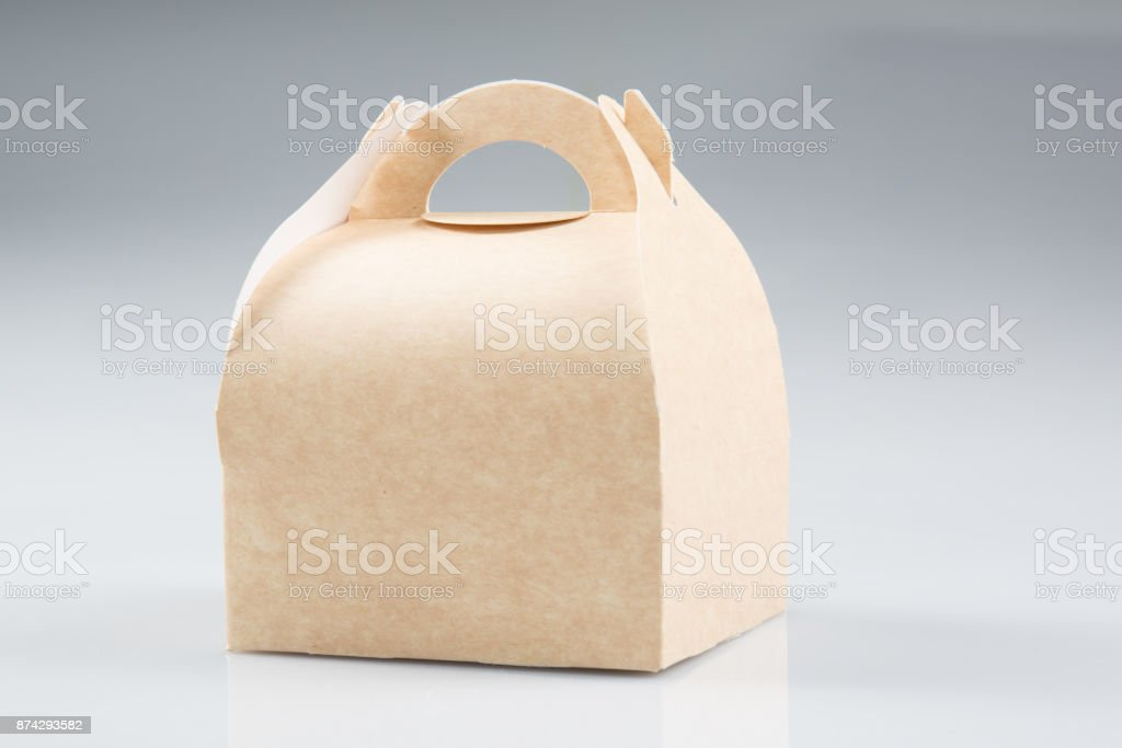 Stack Takeaway Cardboard Food Boxes stock photo