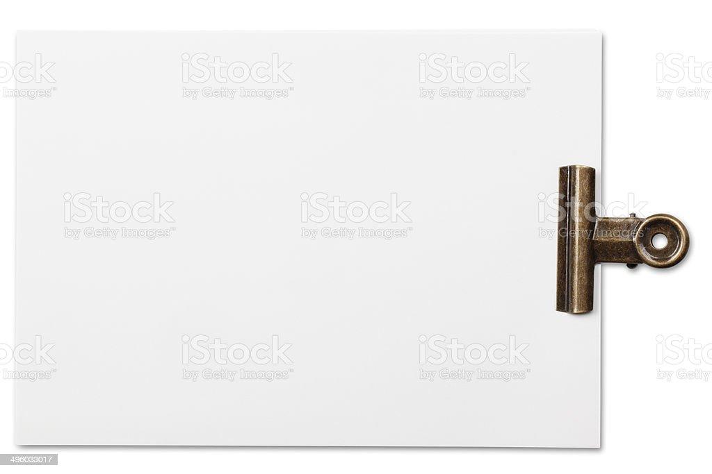 Stack white paper stock photo