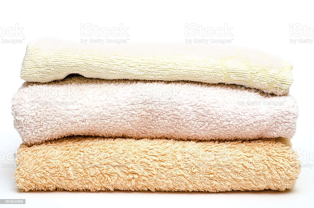 Stack with towels royalty-free stock photo