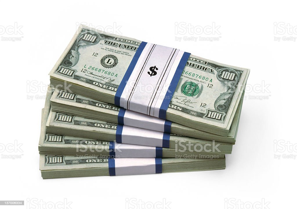Stacked $100 Bills royalty-free stock photo