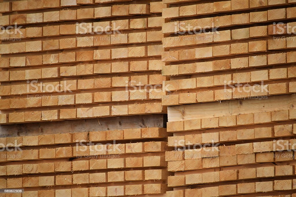 Stacked 2x1 timber stock photo