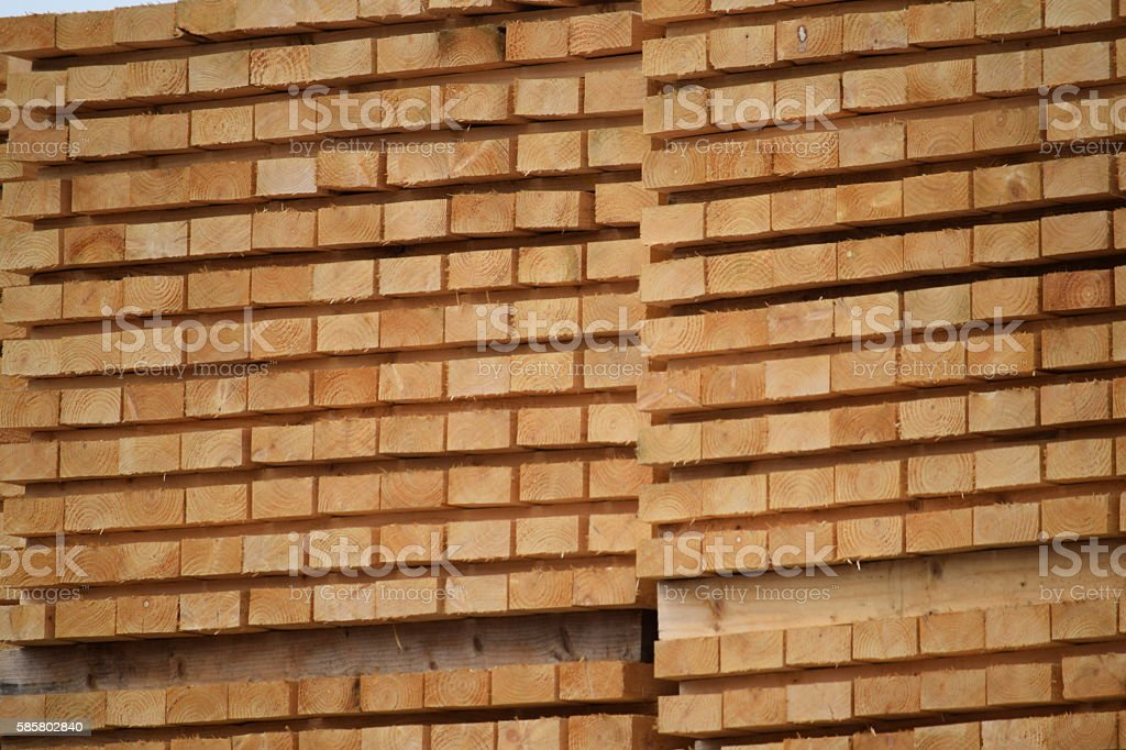 Stacked 2x1 wood stock photo
