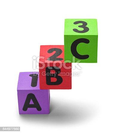 istock Stacked ABC Blocks 544977550