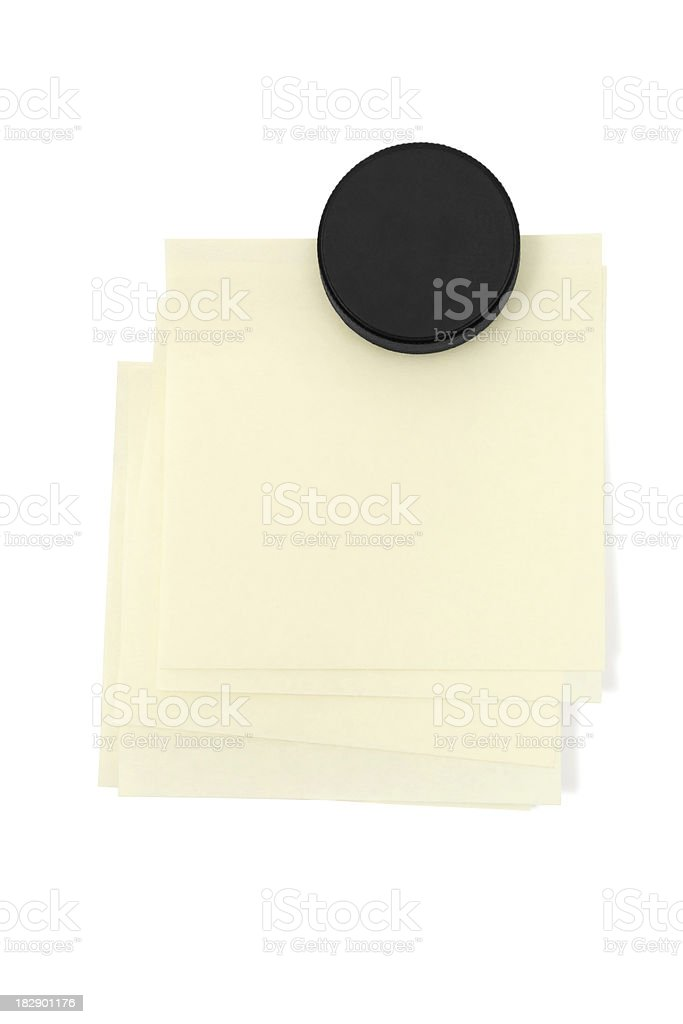Stacked Adhesive Notes royalty-free stock photo
