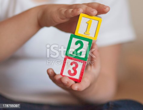 istock 1,2,3 stacked blocks - close up 178755097