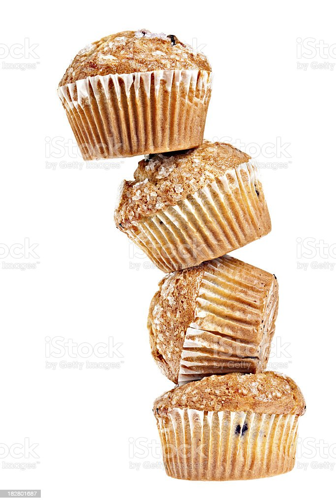 Stacked Blueberry Muffins royalty-free stock photo