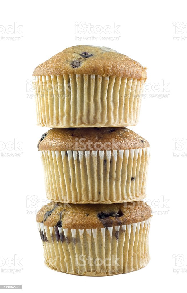 Stacked Blueberry Muffins royalty free stockfoto