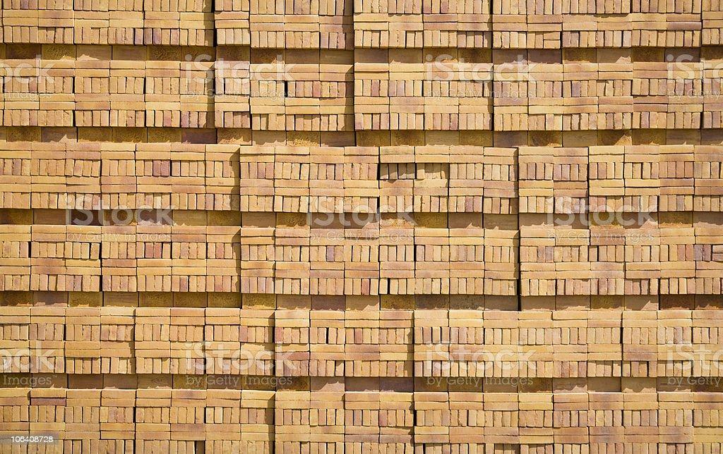 Stacked bricks stock photo