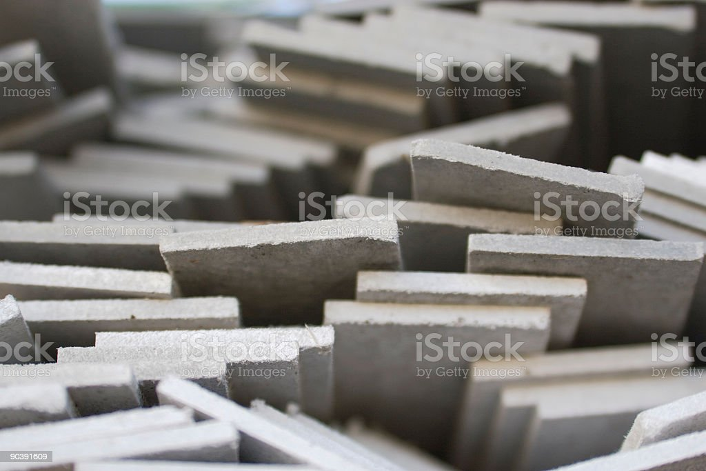 Stacked Building Material royalty-free stock photo