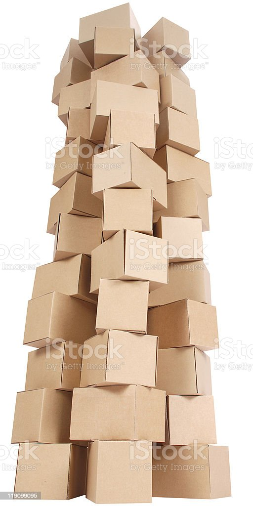 Stacked cardboard boxes royalty-free stock photo