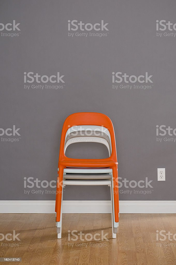 Stacked Chairs royalty-free stock photo