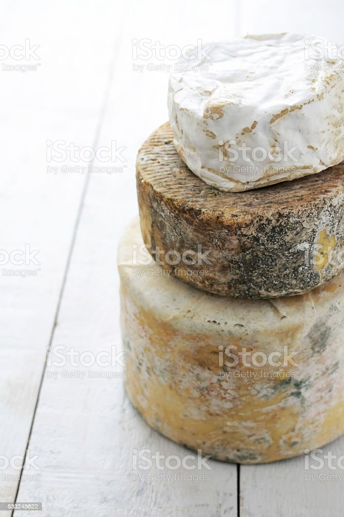 stacked cheese stock photo