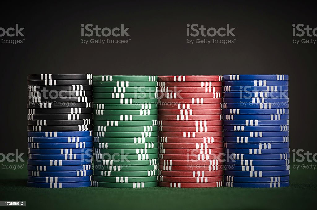stacked chips royalty-free stock photo