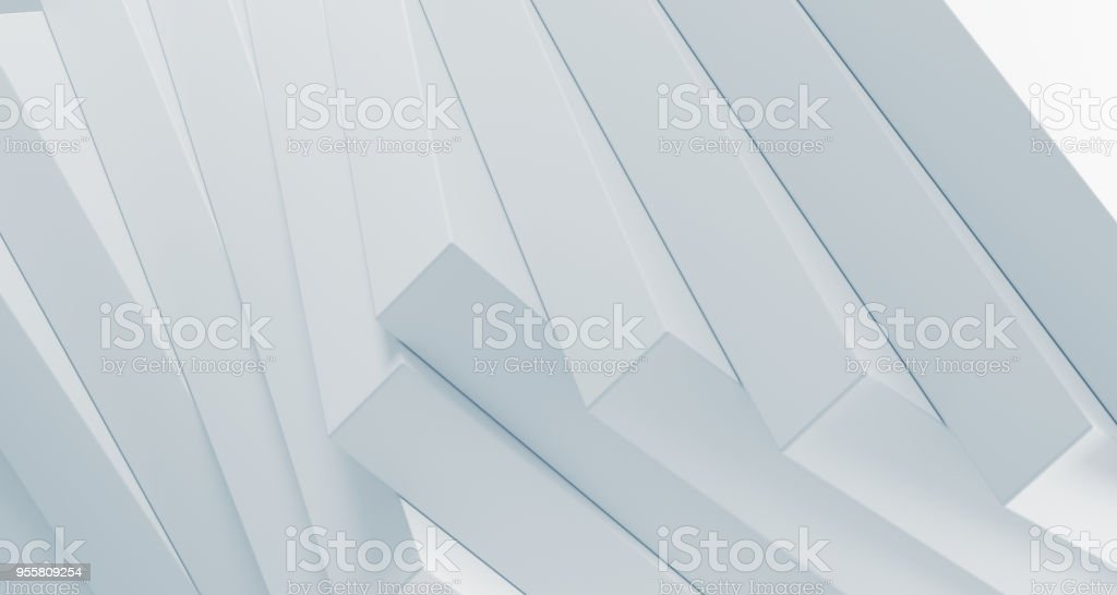 Stacked clean boxes abstract background. 3D Rendering royalty-free stock photo