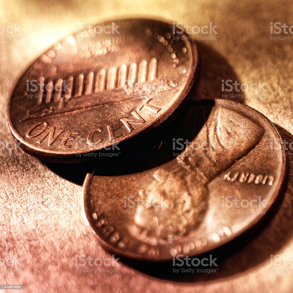 Stacked Coines stock photo