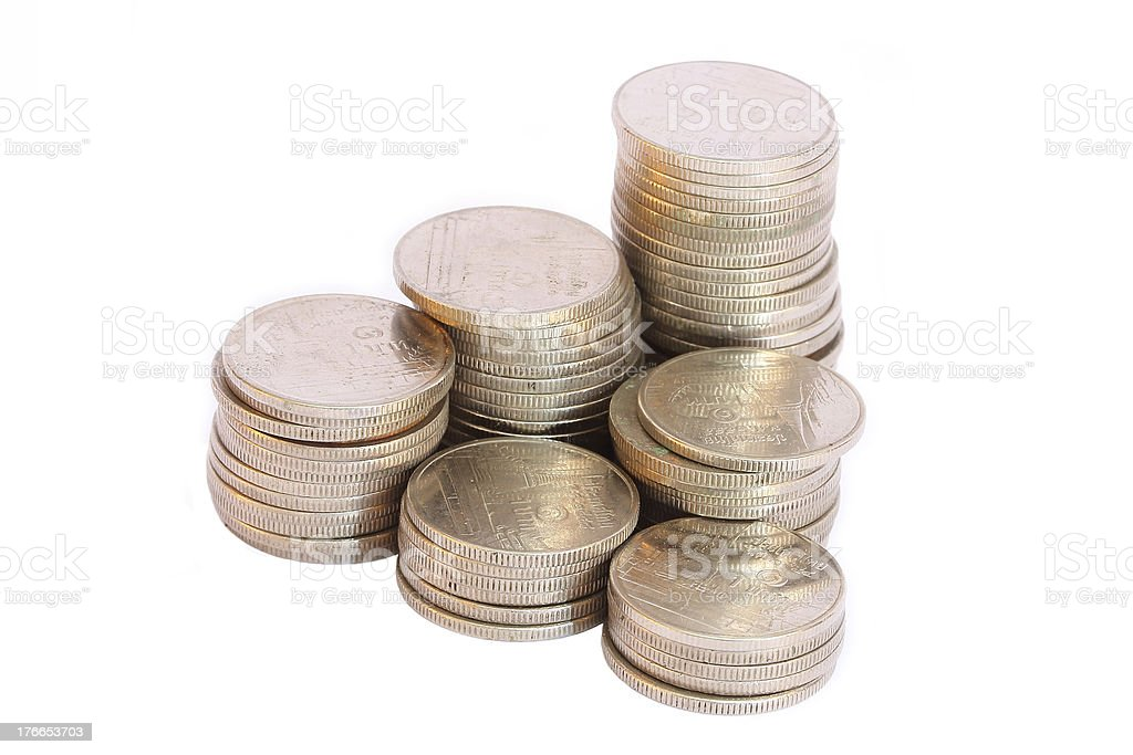 Stacked Coins royalty-free stock photo