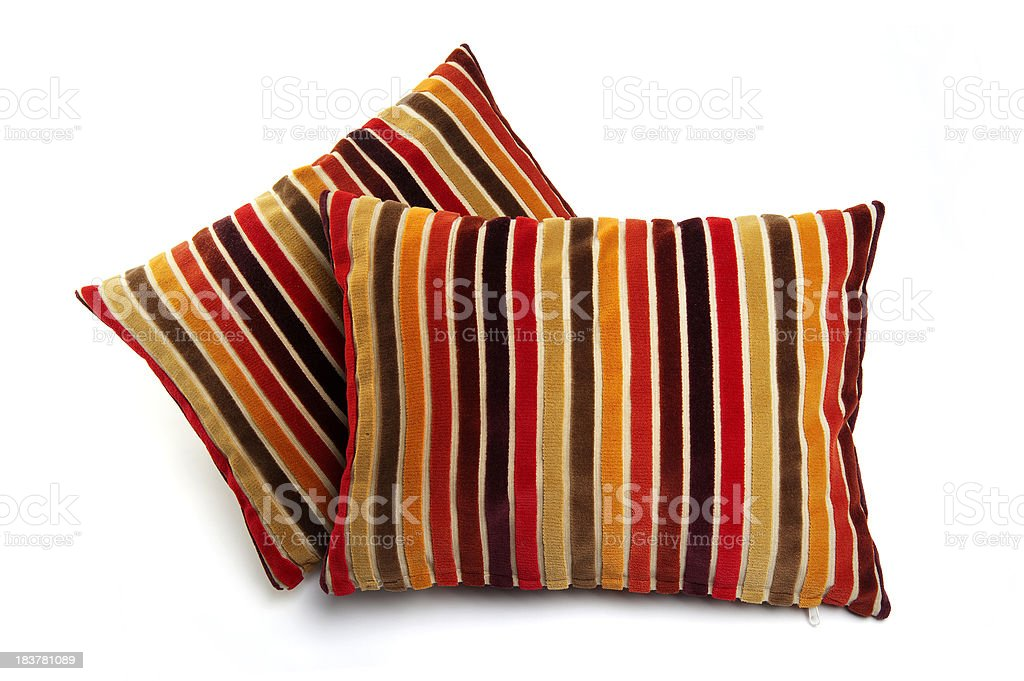Stacked Colorfully Cushions royalty-free stock photo