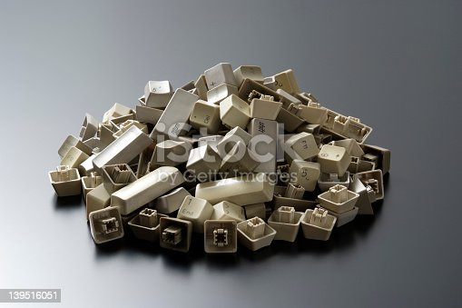 176074170 istock photo Stacked computer keyboard keys 139516051