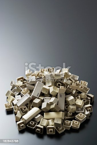 istock Stacked computer keyboard keys with copy space 182843768