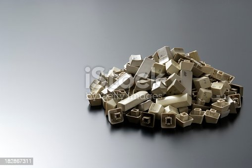 176074170 istock photo Stacked computer keyboard keys with copy space 182867311