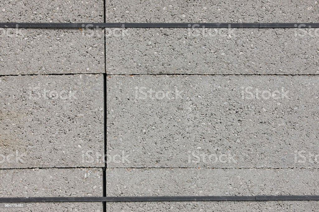 Stacked concrete blocks. Construction material. Brickwork. Architecture royalty-free stock photo
