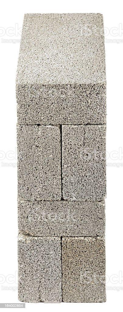 Stacked Construction Blocks - High Angle royalty-free stock photo