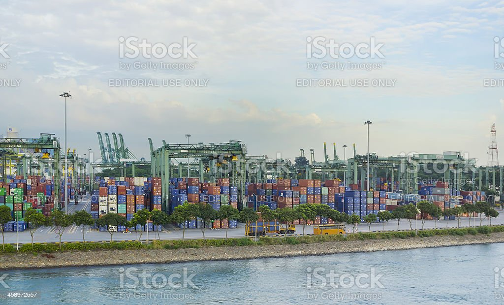 Stacked Containers stock photo