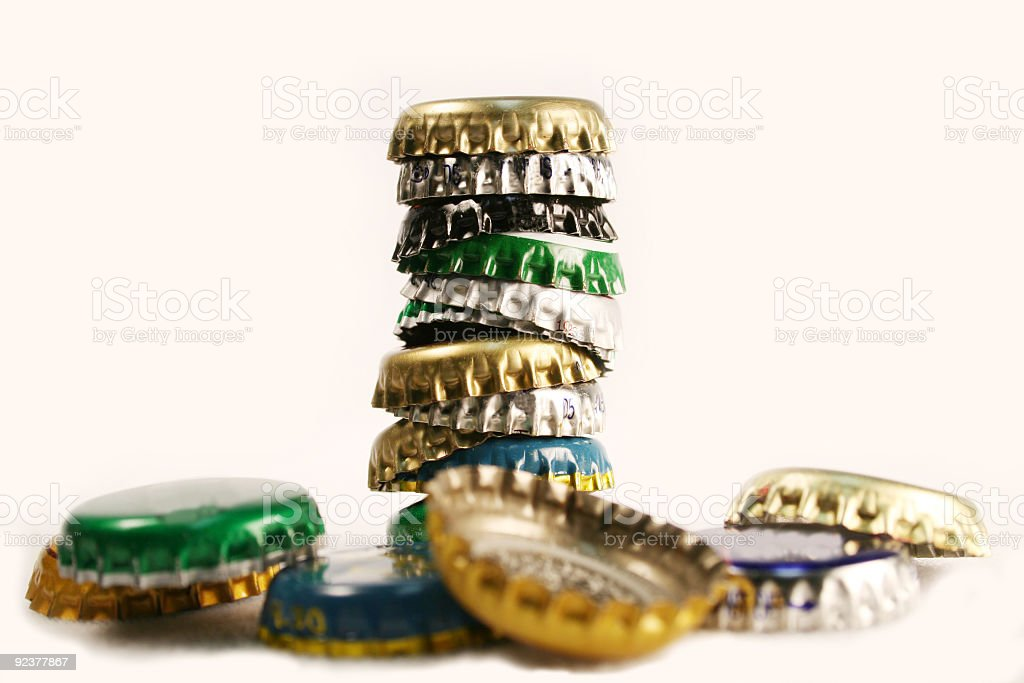 A stacked crowns collapse on a white background royalty-free stock photo