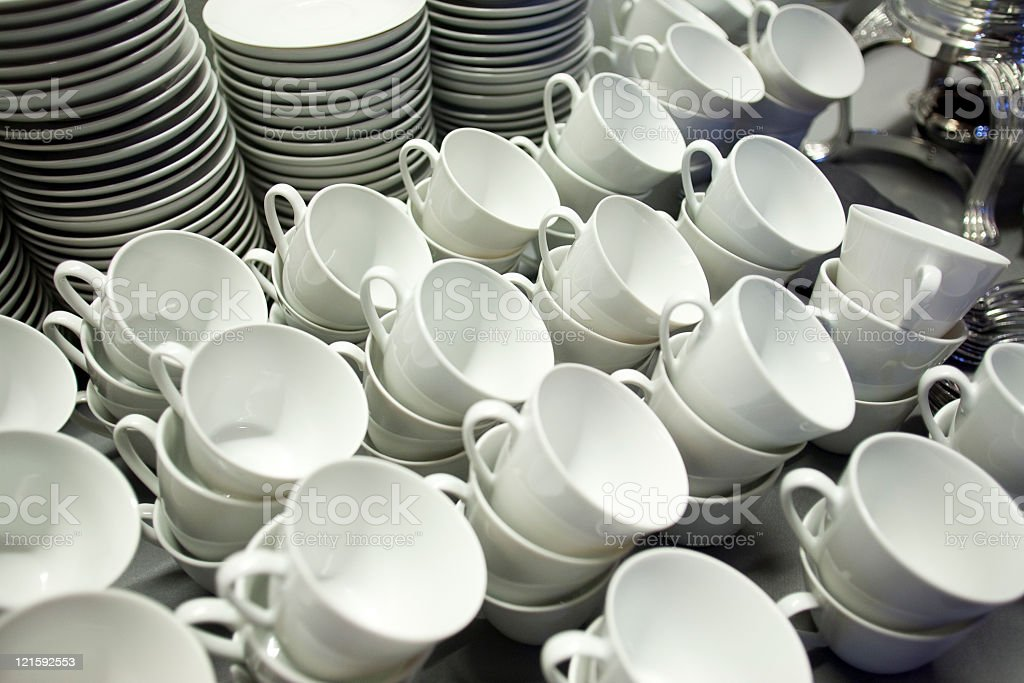 stacked dishes royalty-free stock photo