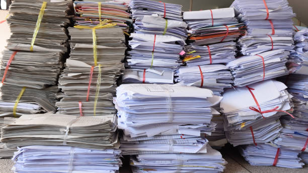 Stacked document Stacked document  paper To recycle and reuse bureaucracy stock pictures, royalty-free photos & images