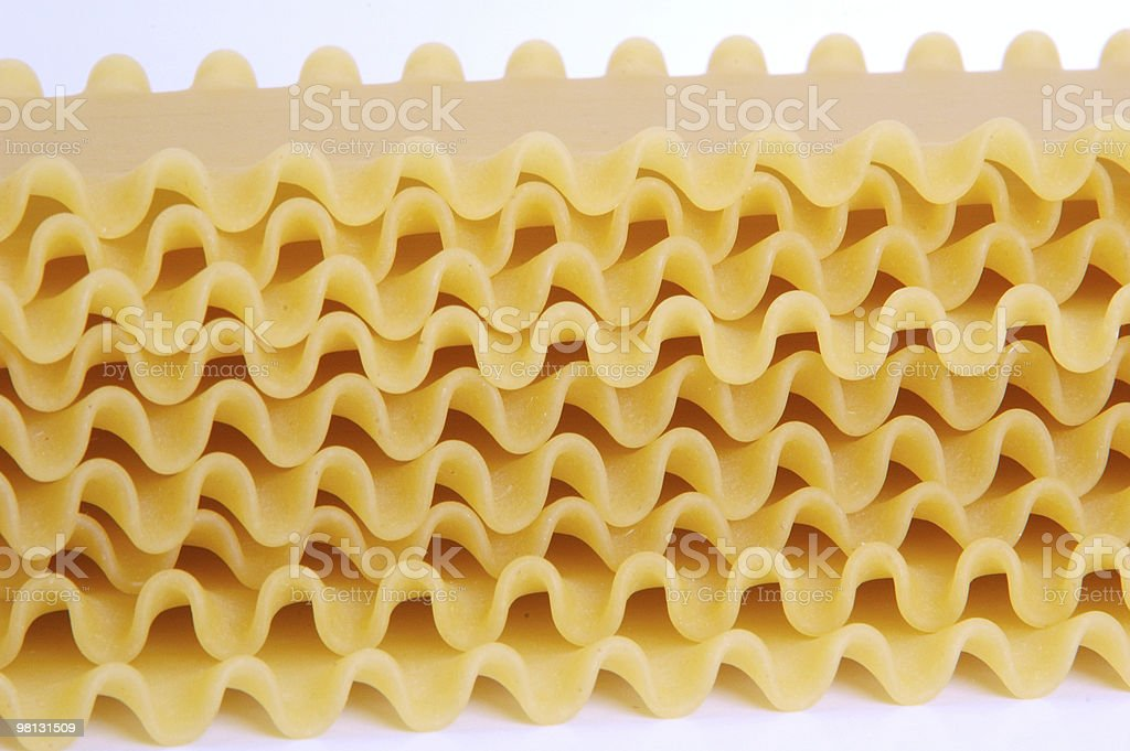 stacked dry lasagna noodles royalty-free stock photo