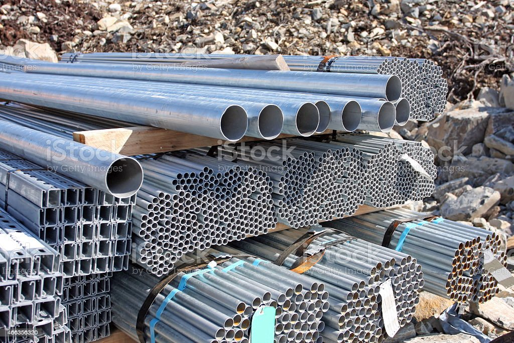 Stacked Electrical Conduit Stock Photo - Download Image Now - iStock