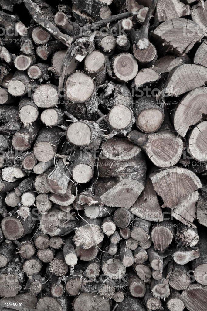 Yığılmış yakacak odun royalty-free stock photo