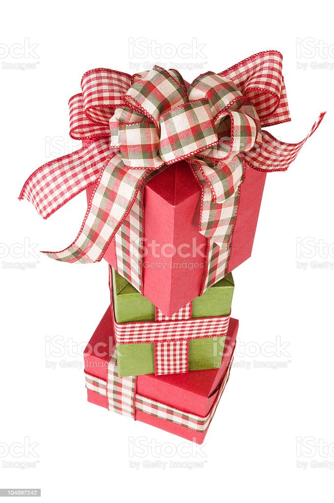 Stacked Gift Boxes stock photo