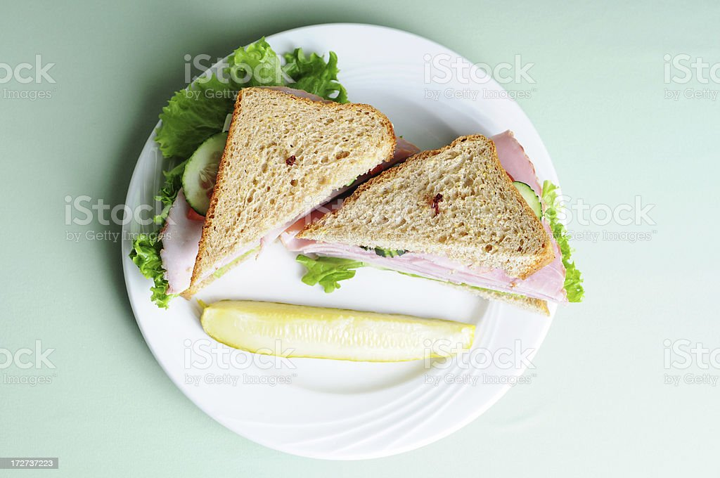 Stacked Ham Sandwich stock photo