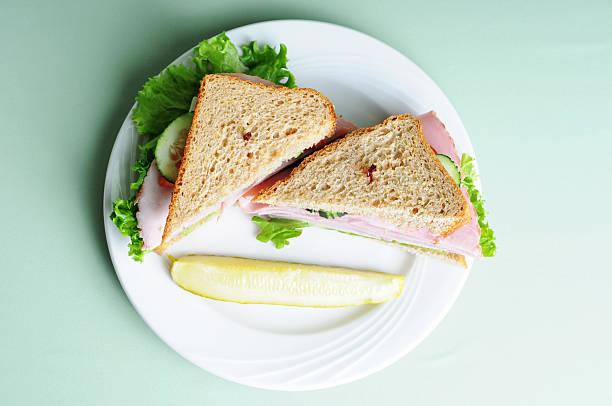 Stacked Ham Sandwich stock photo