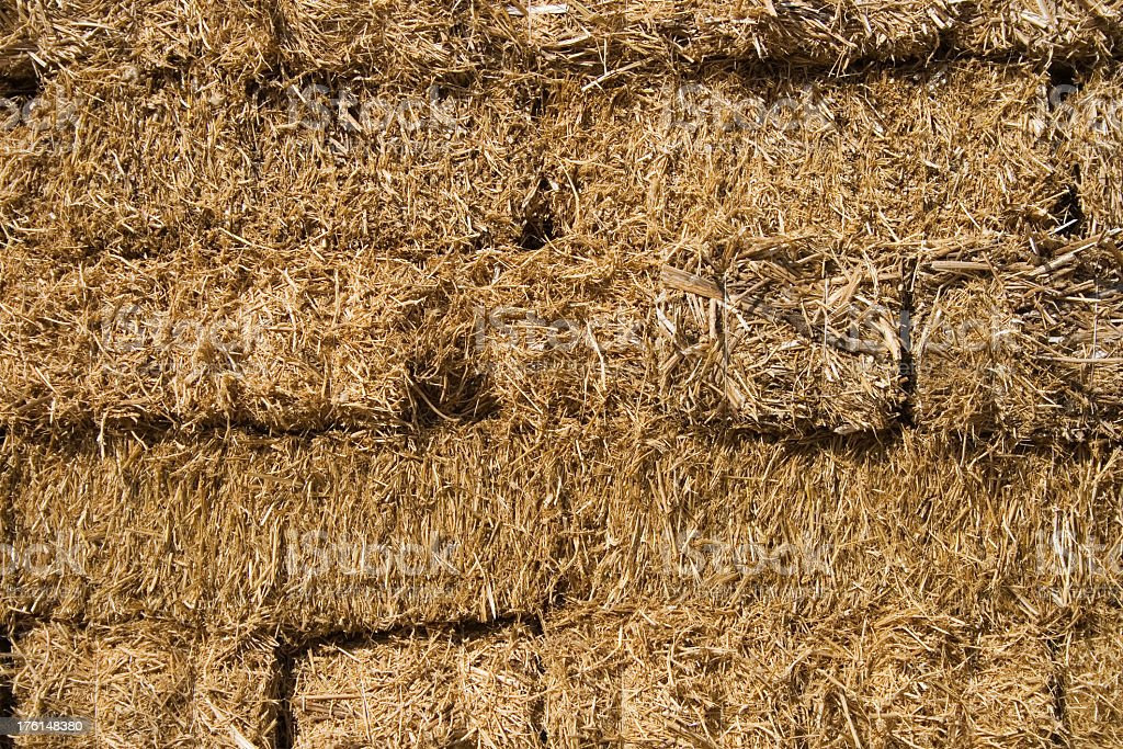 Stacked hay bales as background royalty-free stock photo