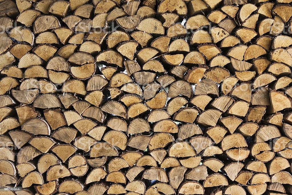 Stacked Log royalty-free stock photo