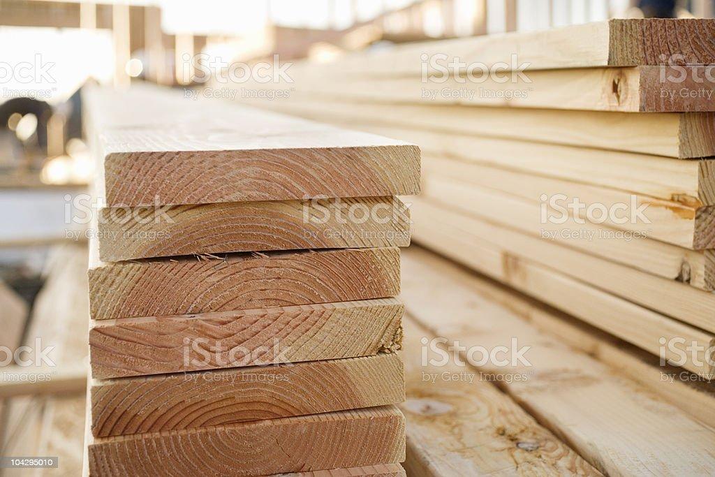 Geschlossene Holz auf Baustelle – Foto