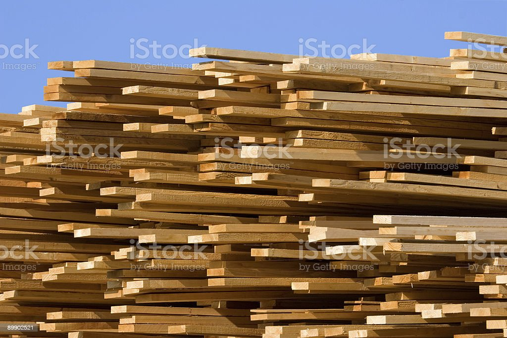 Stacked Lumber II royalty-free stock photo