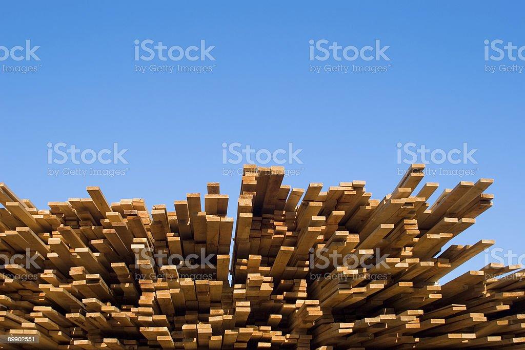 Stacked Lumber III royalty-free stock photo