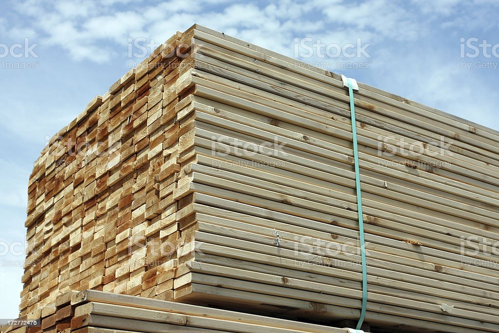 Stacked Lumber royalty-free stock photo