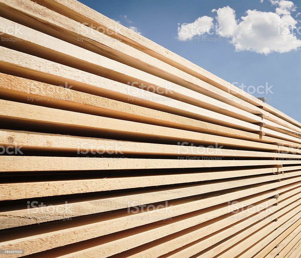Gestapelte Holz – Foto