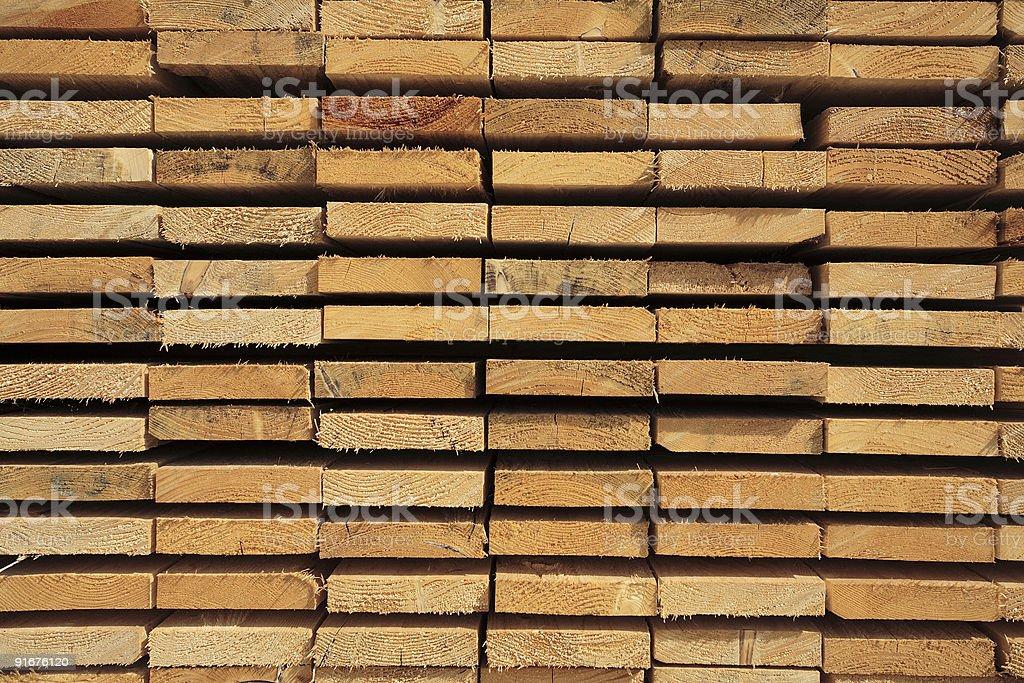Stacked Lumber royalty-free stock photo