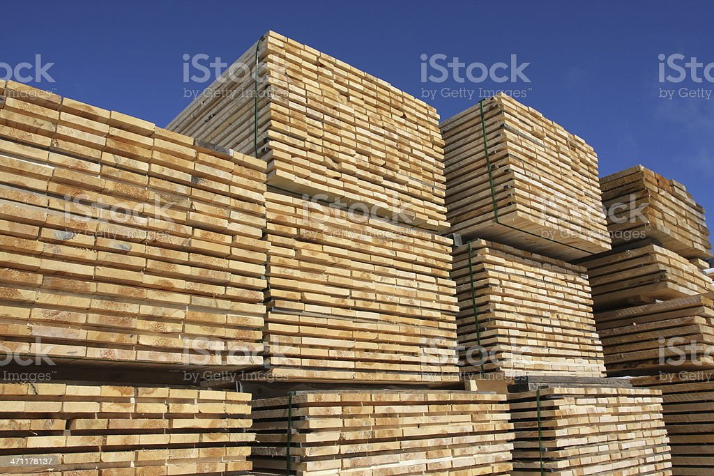 Stacked Lumber, Series royalty-free stock photo