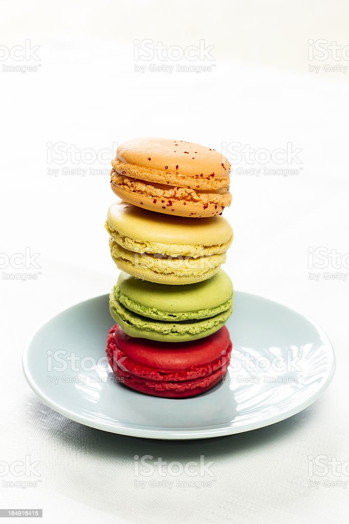 Stacked macarons royalty-free stock photo