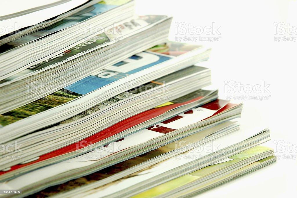 Stacked Magazines royalty-free stock photo