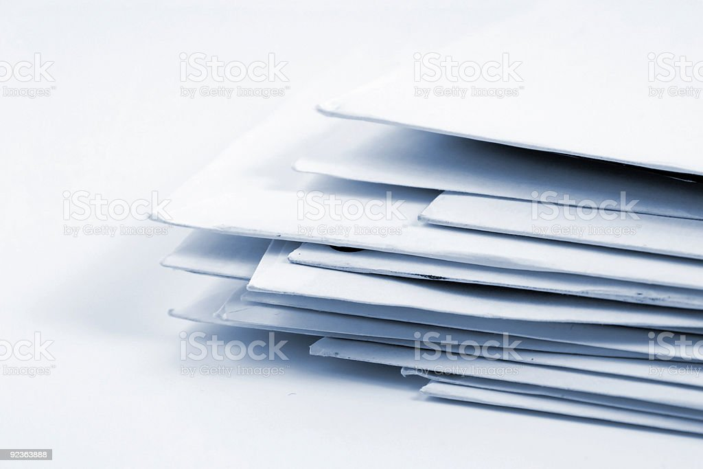 Stacked Mail royalty-free stock photo