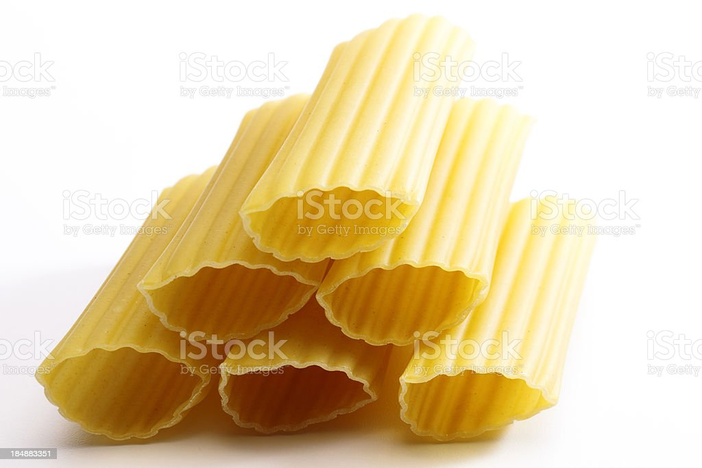 Stacked Manicotti stock photo